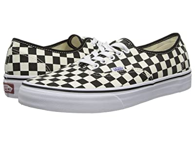 Vans Authentic ((Golden Coast) Black/White Checker) Skate Shoes