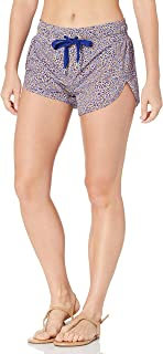 Seafolly Women's Printed Short Length Boardshort with Elastic Waist