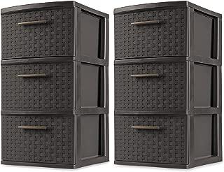 Best sterilite 3 drawer medium weave tower Reviews