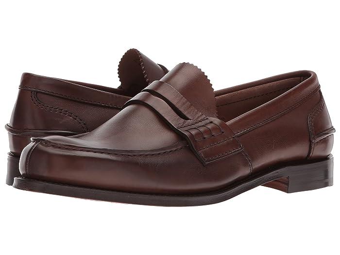 1940s Mens Shoes | Gangster, Spectator, Black and White Shoes Churchs Pembrey Loafer Cognac Mens Shoes $550.00 AT vintagedancer.com