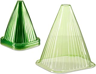 Relaxdays, Groene plantenhoed in 24-delige set, plantenhulp, plantenbescherming tegen vorst, slakken en vogels, PVC, plant...