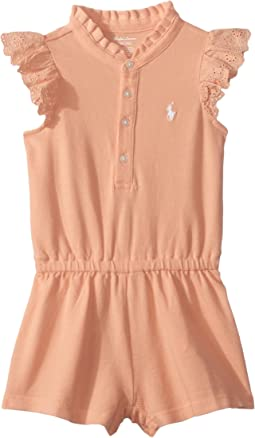 Cotton Flutter-Sleeve Romper (Infant)