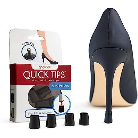GoGoHeel Quick Tips - The Original High Heel Protector & Heel Repair Caps - 2 Pairs