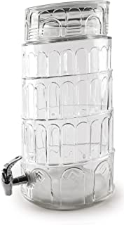 Circleware Sun Tea Jar Beverage Dispenser and Glass Lid, Party Entertainment Home & Kitchen Glassware Water...