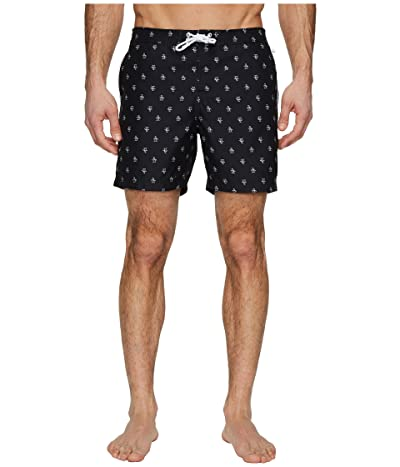 Original Penguin Penguin Fixed Waist Swim (True Black) Men