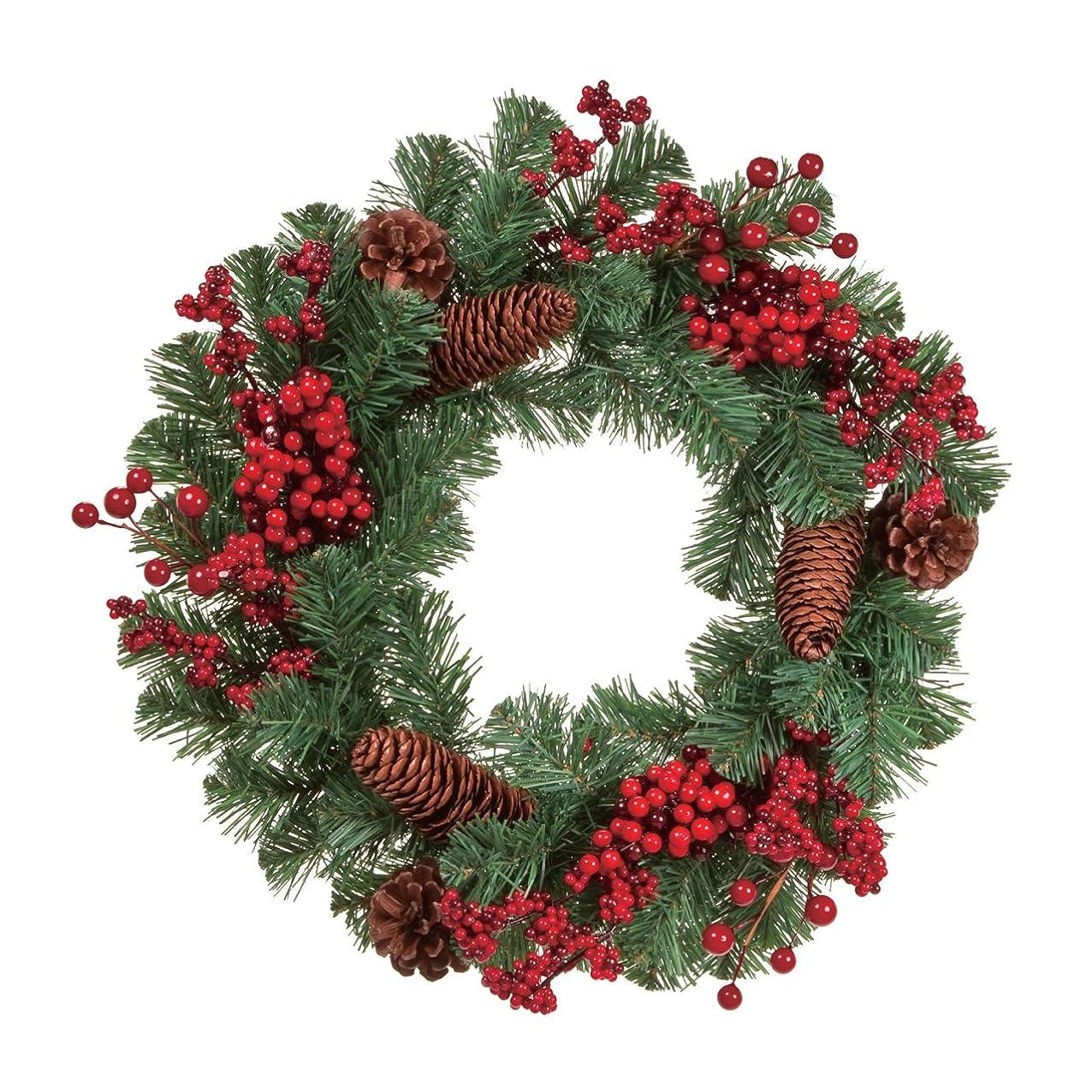 知り合いになるいっぱい謙虚な東京堂 クリスマス レッドベリーコーンリース XH016571