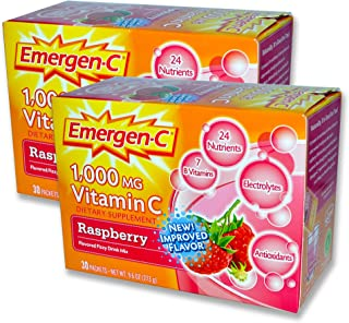 EmergenC, Raspberry, 30 Packets (Pack of 2)