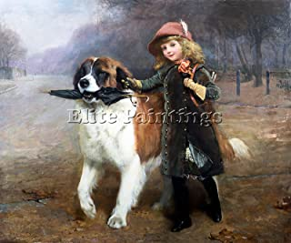 CHARLES BURTON BARBER OFF TO SCHOOL ARTIST PAINTING OIL CANVAS REPRO ART DECO 20x24inch MUSEUM QUALITY