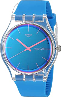 Transformation Quartz Silicone Strap, Blue, 20 Casual Watch (Model: SUOK711)