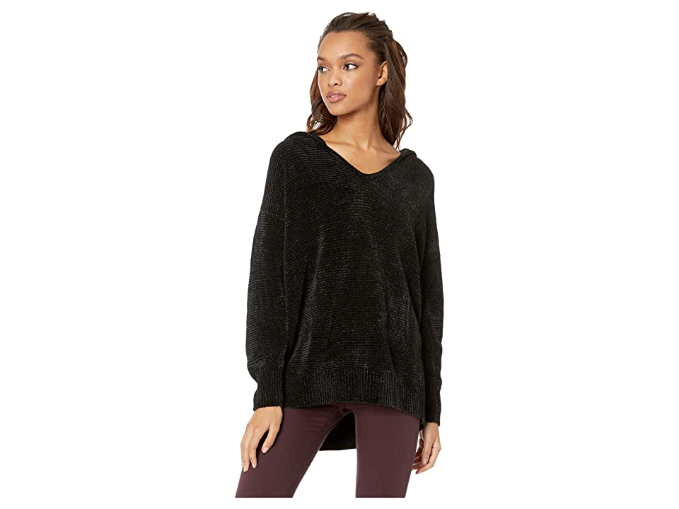 Splendid Aurora Chenille Sweater (Black) Women