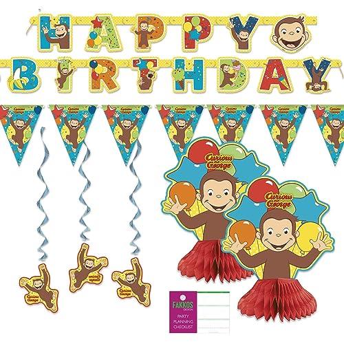 Curious George Birthday Decorations Amazon Com