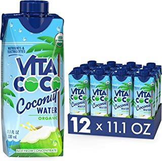 Vita Coco Coconut Water, Pure Organic | Natural Hydrating Electrolyte Drink | Shelf Stable | Smart Alternative To Coffee, ...