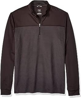 Men's Drytec UPF 50+ Double Knit Traverse Stripe Half Zip Pullover