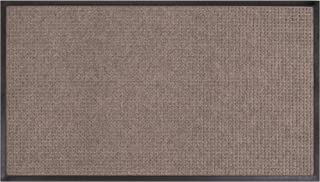 Amazon Basics Molded Carpet & Rubber Commercial Scraper Entrance Mat Square Pattern 3x5 Gray