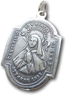 St Teresa of Avila/Angel Religious Medal - Patron of Sick People - Antique Replica