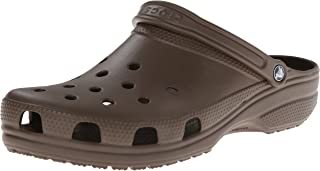Crocs Women's Classic Clog|Comfortable Slip On Casual Water Shoe, Chocolate, 9 M US Women / 7 M US Men