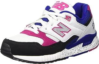 Women 530 90s Running Leather W530PSA (White/Black/Carnival Pink)