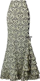 Belle Poque Mujer Falda Larga Vintage De Cintura Alta Taile