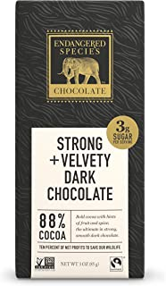Endangered Species Chocolate Extreme Dark Chocolate Bar, 3 Ounce - 12 per case.