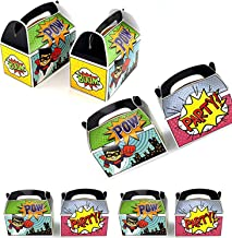 Adorox Set of 12 Superhero Party Goody Treat Boxes Party Favor Birthday Gifts Goodies