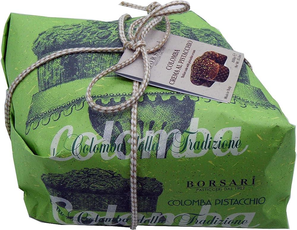 Colomba pasquale alla  crema pistacchio con pistacchi di bronte autentici,1 kg