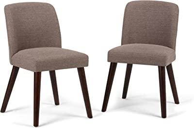 Tremendous Amazon Com Barett Dining Chairs Grey And Chesnut Set Of 2 Gamerscity Chair Design For Home Gamerscityorg