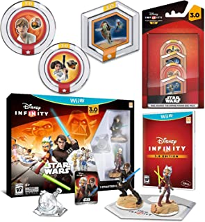 Rise Star Wars Infinity Mega Gaming Pack Wii U / Twilight of The Republic - Anakin Skywalker and Ahsoka Tano Figures Play Set exclusive Play Piece + 4 Empire Power Discs