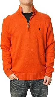 Mens Pullover Half-Zip Mock Neck Sweater