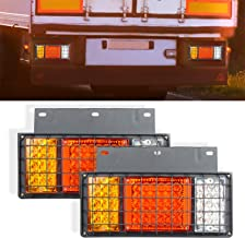 AOKEN 65LED Trailer Tail Lights Bar with Iron Plate,12V Waterproof LED Turn Signal/Parking/Reverse/Brake/Running Lamp for GMC W Series Isuzu Elf Truck NPR NPR-HD NKR NHR NRR FSR FRR 1984
