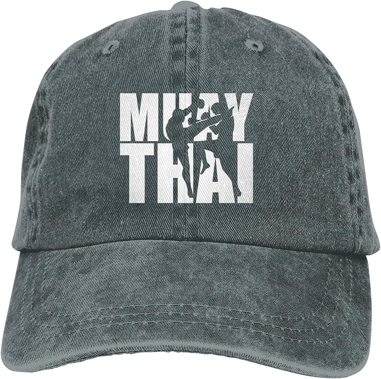 CUTEDWARF Muay Thai Unisex Adjustable Cotton Baseball Hat Cowboy Cap Dad Hats Denim Trucker Hat