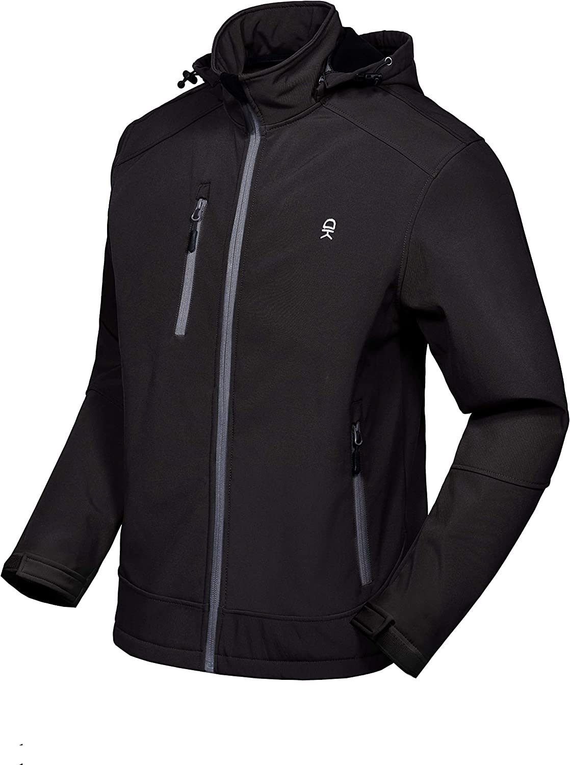Little Donkey Andy Men's Softshell Jacket Removable Same day shipping Tulsa Mall with Ho
