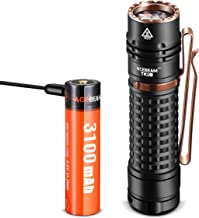 ACEBEAM TK18 AL SAMSUNG LED EDC Flashlight with USB Rechargeable Battery, 3000 Lumens Handheld Tactical Flashlights