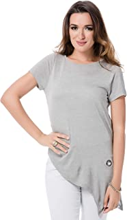 Vero Moda Milass Short Sleeve Top For Women - Xs, Light Melange