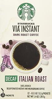 Starbucks VIA Decaf Italian Coffee 12 packets, 0.11 ounce