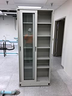 Fisher Hamilton Hamilton Tall Laboratory. Storage Cabinets with Sliding Glass Doors. Pre-owned