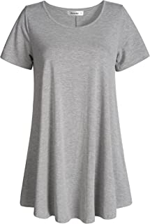 Esenchel Women's Tunic Top Casual T Shirt for Leggings