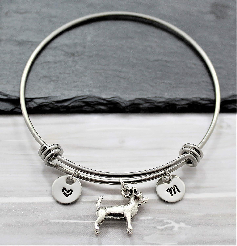 Chihuahua Charm Bracelet - Personalized Initial Boston Mall Jewe Long Beach Mall