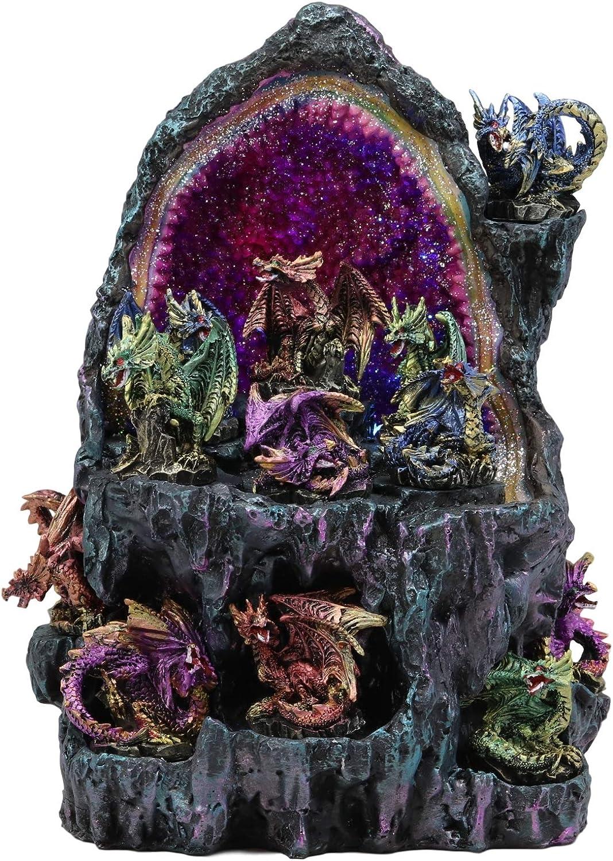 Ebros Medieval Renaissance 12 Colorful Dragons In Faux Over item Elegant handling Miniature