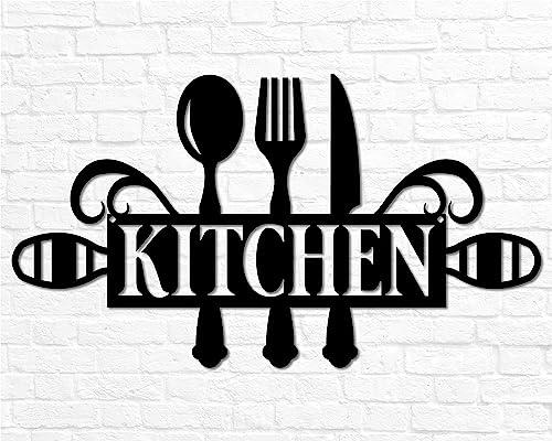 Amazon Com Metal Kitchen Sign Decor Kitchen Wall Decor Kitchen Wall Art Kitchen Word Sign Kitchen Gift Kitchen Decor Cooking Gift Housewarming Gift Handmade