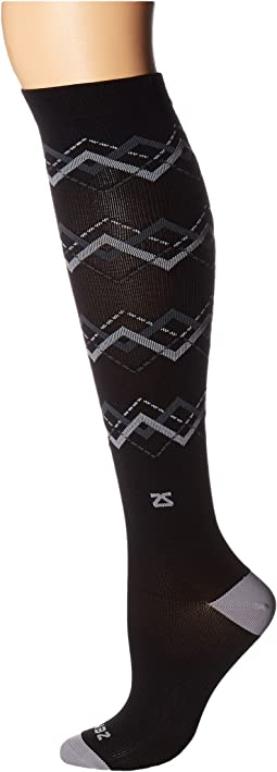 Zensah - Fresh Legs Chevron Argyle Compression Socks