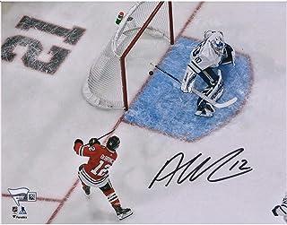 """Alex DeBrincat Chicago Blackhawks Autographed 8"""" x 10"""" Goal Against Toronto Maple Leafs Photograph - Fanatics Authentic Certified"""