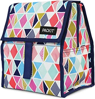 PackIt Freezable Lunch Bag with Zip Closure, Festive Gem