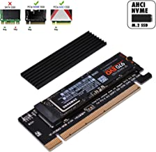 EZDIY-FAB NVME PCIe Adapter, M.2 NVME SSD to PCI Express Adapter with Heat Sink Support PCIe x4 x8 x16 Slot,Support M.2 SSD 2230 2242 2260 2280