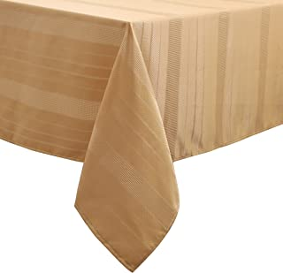 "Randall Rectangle Tablecloth Oblong 60""×120"" 10 Feet Water Proof Dust-Proof Stain Resistant Heavy Duty Table Cover for Kitchen Dinning Party Tabletop Decoration 10-12 Seats, Wheat Gold"