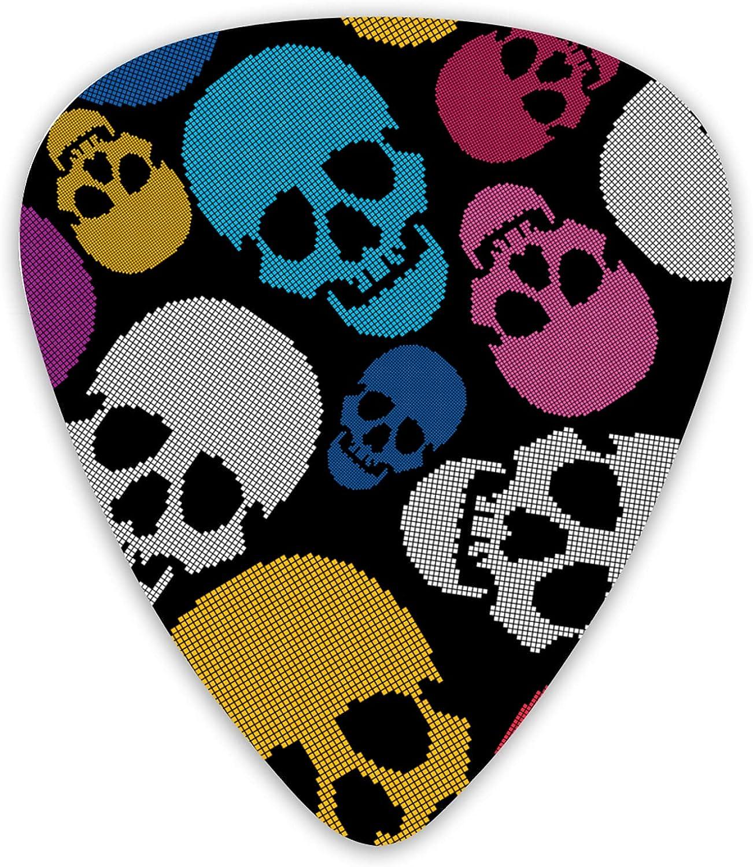 Colorful Skulls Superlatite On Jacksonville Mall Black Guitar Music Thin Picks Includes