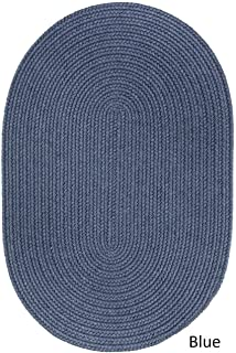Rhody Rug Woolux Wool Oval Braided Rug (3' x 5') Sailor Blue