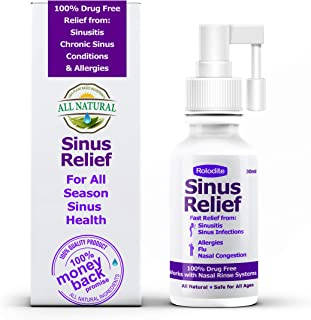 Rolodite Sinus Relief Balance Nasal Spray 1 FL OZ, Relief 10X Faster from Sinusitis and Mold Allergy Symptoms, Non-Addictive (1 Fl oz)