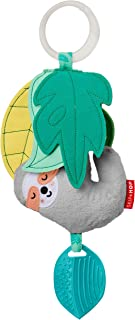 Skip Hop Plush Baby Stroller Toy & Vibrating Teether, Tropical Paradise Jitter Sloth