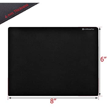 Micro Mouse Pad Small 8 x 6 Inch Black Mousepad for Laptop or Desktop