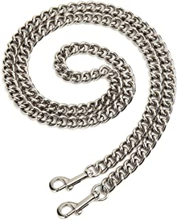 51'' Long Aluminum Chain Purse Strap Crossbody Replacement for Cross Body Bag,Handbag,Purse,Clutch (Silver)